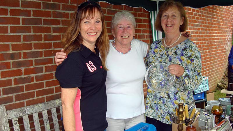 Friends of Swanage Hospital selling bric-a-brac