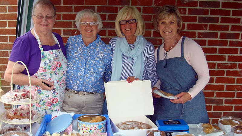 Friends of Swanage Hospital selling cakes