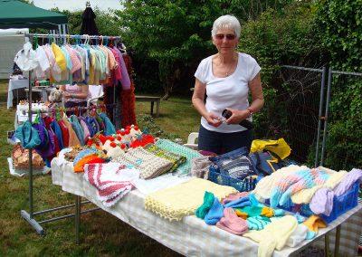 Fundraising, knitting