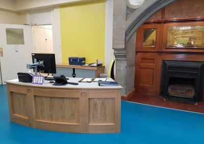 Reception area updated