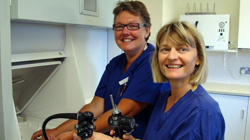 Staff Nurses Sally and Paula at work