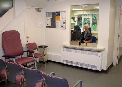 Kim and waiting room